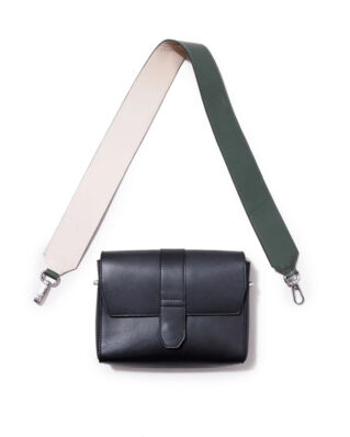 Sandqvist Shoulder Strap Leather Green/Beige