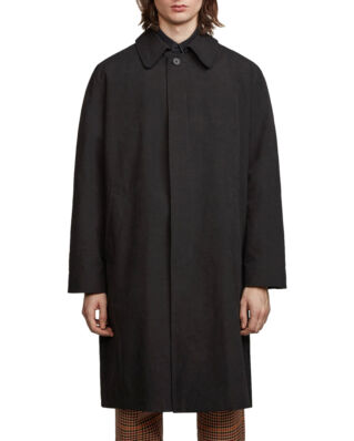 Schnaydermans Coat Oversized Cotton Nylon Black