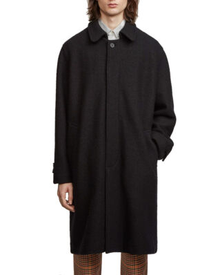 Schnaydermans Coat Oversized Structured Wool Black