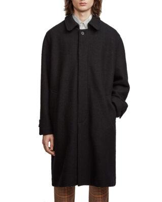 Schnaydermans Coat Oversized Structured Wool Black