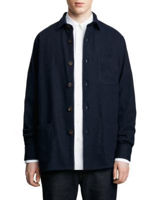 Schnaydermans Overshirt One Dark Blue