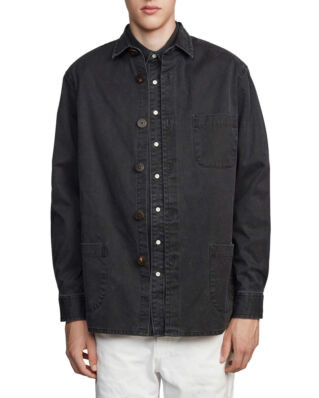 Schnaydermans Overshirt Overdyed One Black