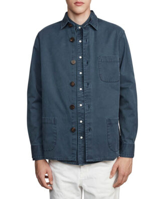 Schnaydermans Overshirt Overdyed One Dark Blue