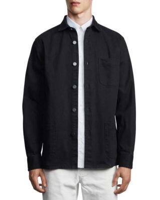 Schnaydermans Overshirt Twill One Black