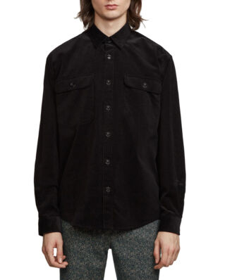 Schnaydermans Shirt Boxy Corduroy Solid Black
