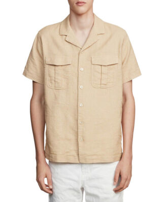 Schnaydermans Shirt Notch Structured Short Sleeve Beige