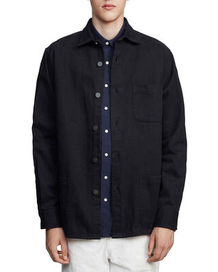 Schnaydermans Overshirt Twill One Dark Blue