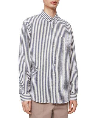 Schnaydermans Shirt BD Brushed Cotton Stripe