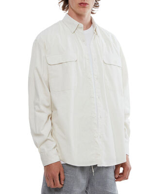 Schnaydermans Shirt Boxy Cord Offwhite