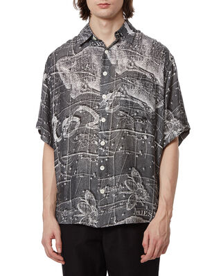 Schnaydermans Shirt Oversized Print Zodiac SS Black and White