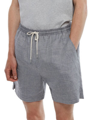 Schnaydermans Shorts Melange Check Blue and Grey