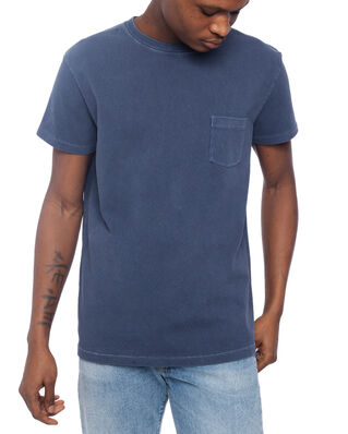 Schnaydermans T-Shirt Jersey Garment Dyed Mood Indigo