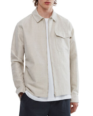 Schnaydermans Zipshirt Cotton Linen Twill Sand