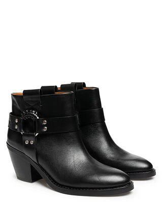 See By Chloé Eddie Ankle Boot 10140 Texan Calf Black