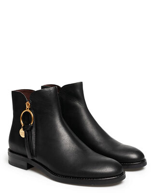See By Chloé Louise Ankle Boot 10001 Velvet Calf Black