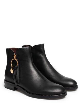 See By Chloé Louise Ankle Boot 10001 Velvet Calf Black