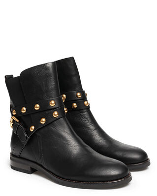 See By Chloé Neo Janis Half Boot 10001 Velvet Calf Black