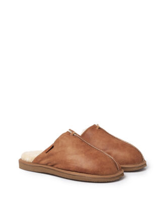 Shepherd Hugo antique/cognac slippers