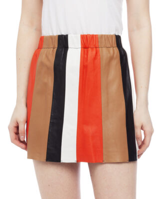 Stand Studio Elina Skirt Acid Red/Sepia/Black/Vanilla