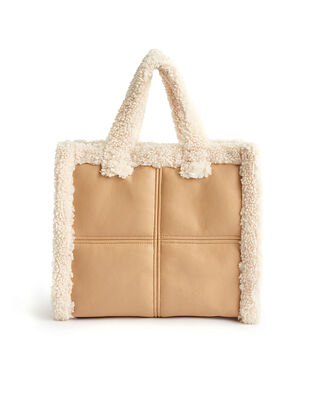 Stand Studio Lolita Shearling Bag Beige/Off White