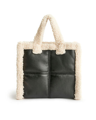 Stand Studio Lolita Shearling Bag Black/Off White