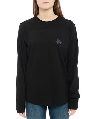 Stüssy Peace Pot Pig. Dyed LS Tee Black