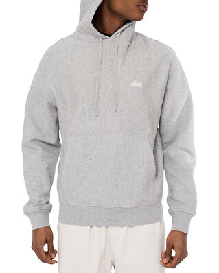 Stüssy Stock Logo Hood Grey Heather