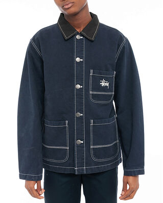 Stüssy Brushed Moleskin Chore Jacket Navy