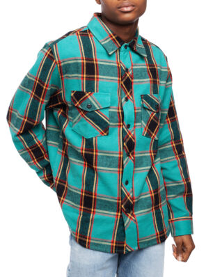 Stüssy Ace Plaid Ls Shirt Teal