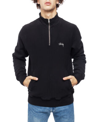 Stussy Stock Fleece Mock Black