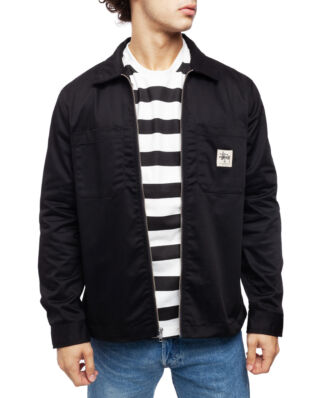 Stussy Zip Up Work LS Shirt Black