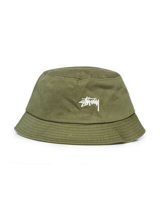 Stüssy Stock Bucket Hat Olive