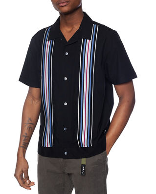 Stüssy Striped Knit Panel Shirt Black