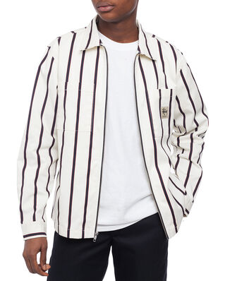 Stussy Zip Up Work Shirt Stripe