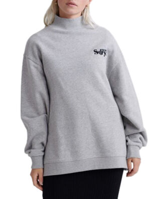 Superdry Ana High Neck Crew Soft Grey Marl