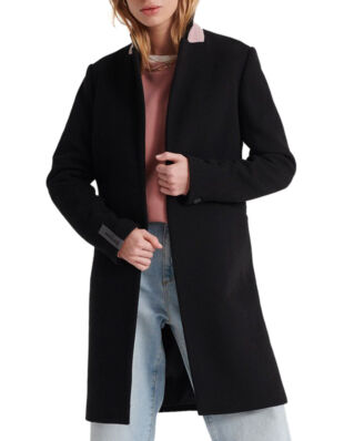 Superdry Ariana Wool Coat Black