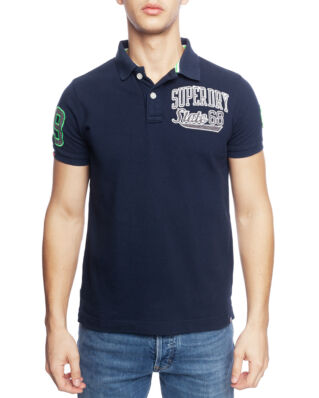 Superdry Classic Superstate Pique Polo Midnight