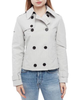 Superdry Cropped Azure Trench Stone