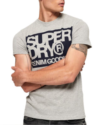 Superdry Denim Goods Co Tee Grey Marl