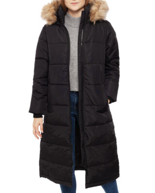 Superdry Longline Quilted Everest Jacket Black