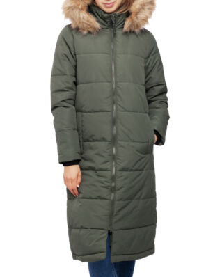 Superdry Longline Quilted Everest Jacket Thyme