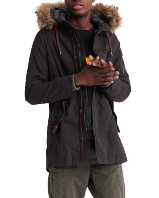 Superdry Mountain Rookie Aviator Parka Furnace Black