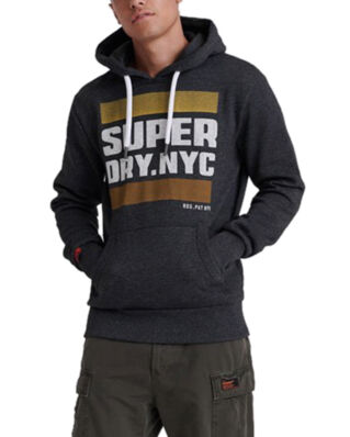 Superdry Nyc Tab Hood Black Grit