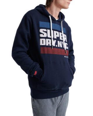 Superdry Nyc Tab Hood Rich Navy