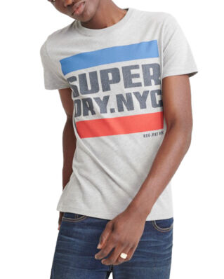 Superdry Nyc Tab Tee Grey Marl