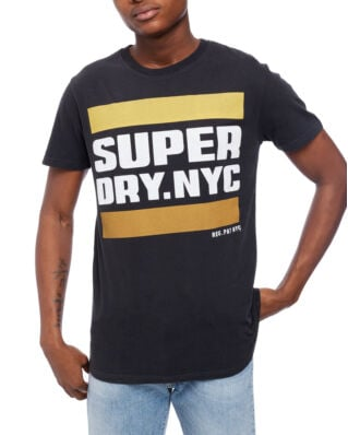 Superdry Nyc Tab Tee Washed Black