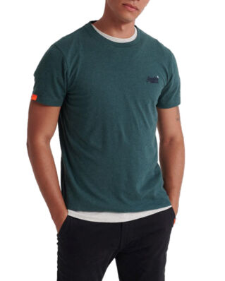 Superdry Ol Vintage Embroidery Tee Buck Green Marl