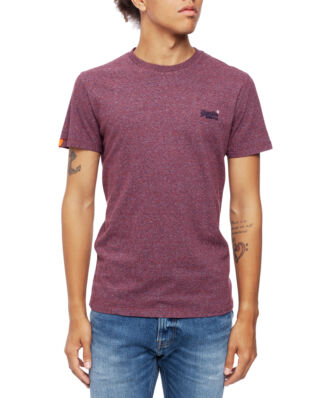 Superdry Ol Vintage Embroidery Tee Creek Red Marl Feeder