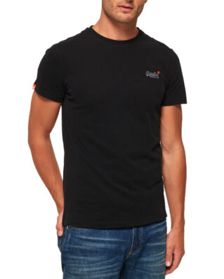 Superdry Orange Label Vintage Emb Tee Black