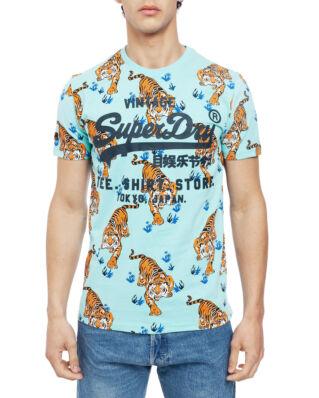 Superdry Shirt Shop Aop Tee Pool Print